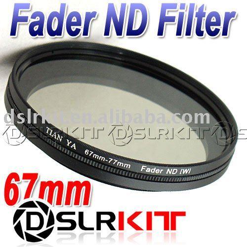 TIANYA 67mm 67 Fader Neutral Density ND Filter ND2 to ND400 ND8(China (Mainland))