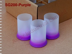 Free Shipping /LED Candle colorful/ Glass Holder / Silicon Base(China (Mainland))