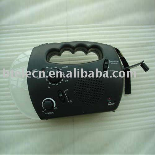 solar radio,Hand Crank radio with Dynamo and LED flashlight(China (Mainland))