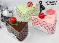 MX-11Cotton mixed colour unique cake shape towel,washcloth gift set 30cm x30cm ,wholeseller