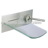 Retail - Luxury Brass Basin Faucet, Glass Waterfall Mixer, Waterfall Glass Tap, Wall Mounted, Free Shipping X8322B1