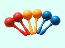 Plastic Maracas whosales, color, music toys, low prise