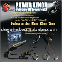free shipping 2sets/lot motorcycle hid xenon lamp hid kits bi-xenon bulb 4300k-15000k