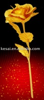 Golden Gift,Golden Rose for Valentine's Day Gift,platinum arts, Golden Craft