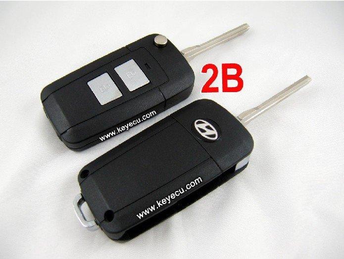 Hyundai elantra santo feida virar remoto chave shell 2 botão(China (Mainland))
