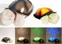 hot sale brand new LED lamp turtle light projection light Toy lamp Christmas gifts 2pcs/lots