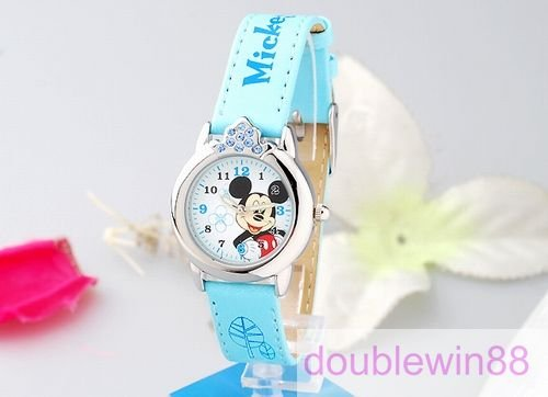 Mickey Mouse Kids Boys Wrist Watches/ Cartoon Watch With Box Package/Cute Children&#39;s Birthday Gift 5pcs/lot+ Gift&amp;Free(China (Mainland))