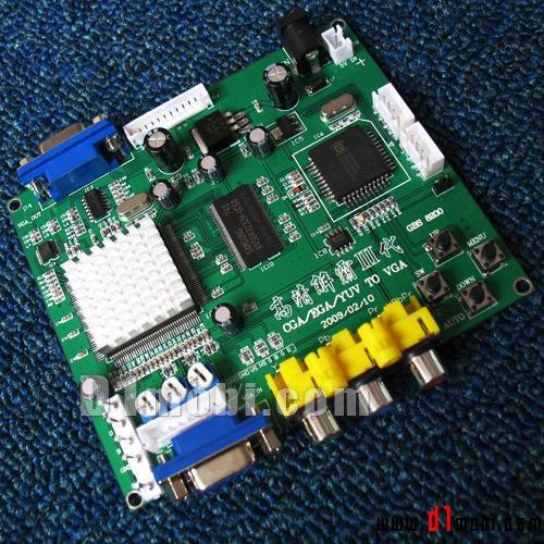 4 pcs of RGB TO VGA / CGA TO VGA converter board/Vedio B-two output-game accessory for arcade game machine/game machine(China (Mainland))