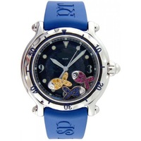 NEW ARRIVAL Happy Beach Jeweled Fish Steel Blue Ladies Watch 28-8347-8-402