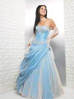 2010 custom Tube Dress neckline  Beaded prom gowns /Junior Bridesmaid any size colour