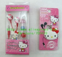 50 pcs Hello Kitty Cartoon fashion headset, 50 pcs cartoon style headphones winding