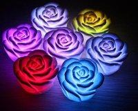 50pcs Mini Rose Shape Romantic Color changing LED Lamp/Flickering Bulb/LED light gift for Christmas +Gift & Free Shipping