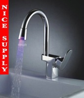 LED FAUCET kitchen mixer tap chrome 3 colors b059