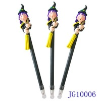 Scary Halloween Gift Toy Blue Hair Witch with Broom Ball Pen Ballpoin Pen Giveaway Gift 1200pcs