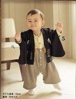black 2 pcs Children Wear Janpenese Kimono /Wafuku baby cloth+wholesale and retail+free shipping