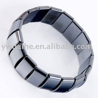 Free ship by DHL Black Magnetic Hematite Square Beads Bracelet
