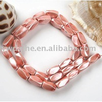 "Free shipping by DHL 6x12mm Pink Magnetic Hematite Twist Loose Beads 16""L"