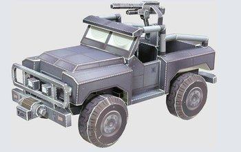 [Alice papermodel]Warhawk Chernovan jeep army car models