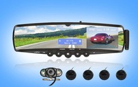 "3.5""car kit mirror with parking camera,Bluetooth Mirror + TTS + Phonebook + Car MP3  + FM + wireless  Camera + Parking sensors"