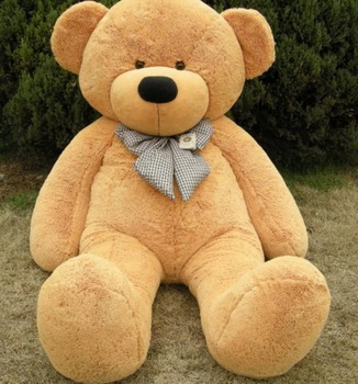"GIANT 63"" TEDDY BEAR with grid tie HUGE SOFT STUFFED BIG PLUSH Toy"