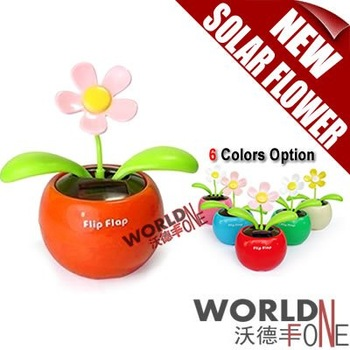 FREE SHIPPING!!! 20PCS/LOT FLIP FLAP SOLAR FLOWER SOLAR PLANT SWING FLOWER SOLAR TOY