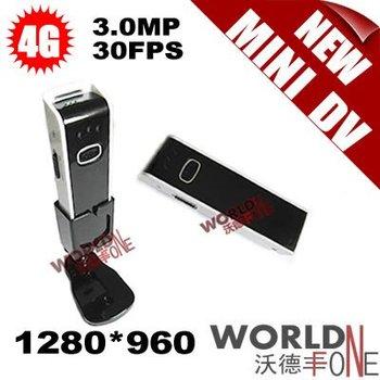 FREE SHIPPING!!! 5PCS/LOT 4G MINI DV HIGH-DEFINITION SPORT DIGITAL VIDEO CAMERA RECORDER - 3.0MP 30FPS 1280*960