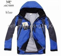 Soft Shell Jacket2+1 BLUE Men Hooded Windstopper