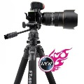 Free shipping new Pro FT-6663A Full complete ballhead tripod set Three-dimensional head