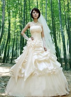 fashion bridal wedding dress silk lady gown princess  temperamental dress