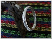 /Free Shipping/ Pure Silver(990s)  Tiber Engraving  Bangle Bracelets by All Human-made