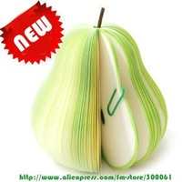 Freeshipping_50pcs/lot Super Cute Pear Shape Memo Pad Note Paper scrap paper sticky notes Fruit memo book