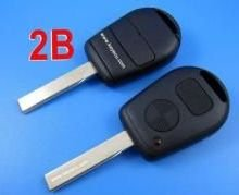 free shipping by hkp MOQ:1lot 5pcs/lot for BMW 2 button remote key shell (copper-nickel alloy) Track 2 durable in use