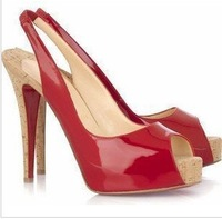 Free shipping high heel red sole shoes  pumps Brand new Fashion Designer shoes