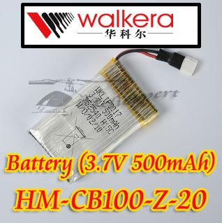 Walkera CB100 parts HM-CB100-Z-20 Battery 3.7V 500mAh free shipping fee accept Paypal