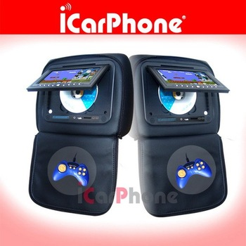 "7"" Car Headrest DVD player LCD Monitor car DVD player car mp3 player"