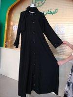 BZ0917011 wholesale hot sell lastest black beauty embroidered cotton women muslim dress
