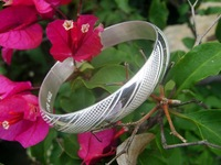 Pure Silver(990s) Fasion Pattern Bangle Bracelets by All Human-made
