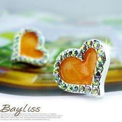 tentar vender o novo diamante- cravejado brinco coração pêssego laranja bc3608-22 pintura a óleo(China (Mainland))