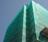 Construction safety net,PE net, UV resistant, green color,1.5 x 6m, Wholesale, retail