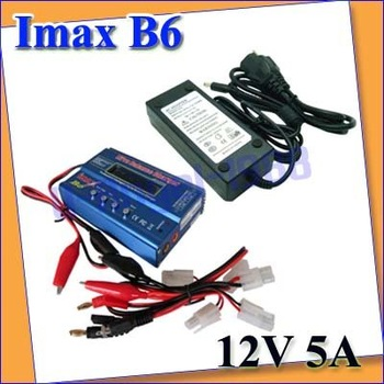 on sale IMAX B6 Digital RC Lipo NiMh Battery Balance Charger+AC POWER 12v 5A Adapter +low shipping fee