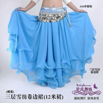 New belly dance Costume Three layers skirt  light color