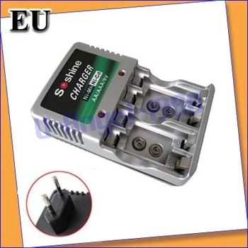 AA AAA 9V Charger Ni-MH MP3 MP4 Rechargeable Battery EU+free shipping