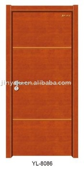 solid wooden door-six layer painting finishing -solid fir skeleton inside,natural wood veneer skin