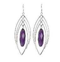 Wholesale-natural amethyst earrings,fashion 925 silver earrings jewelry,Noble purple amethyst drop earrings gifts,free shipping