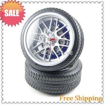 Table clock,alarm clock,fashion clock Tyre type [Free shipping+wholesale]