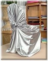 silver self tie chair cover/chair bag/banquet chair cover/wedding chair cover/spandex chair cover/pillowcase chair cover