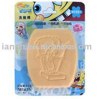 12 Hot Cute Sponge Bob Kids Baby Bath Shower Facial Face Sponge