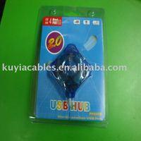 FREE SHIPPING 20PCS/IOT NEW 4 PORT MINI USB  HUB FOR LAPTOP PC extension (blue,black)