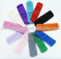 "wholesale 1.5"" Crochet headbands waffle headbands for baby toddler girls freeshipping"