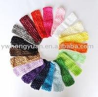 "wholesale 1.5"" Crochet headbands waffle headbands for baby toddler girls free shipping"